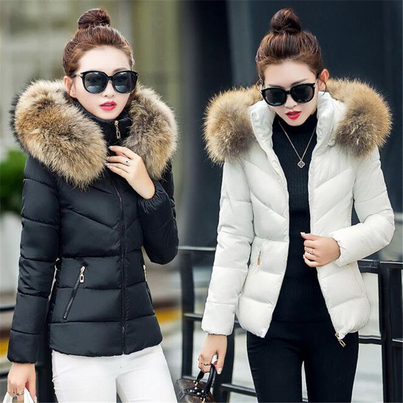 c221b46722 Fake fur collar Parka down cotton jacket 2016 Winter Jacket Women thick  Snow Wear Coat Lady Clothing Female Jackets Parkas-in Down & Parkas from  Women's ...