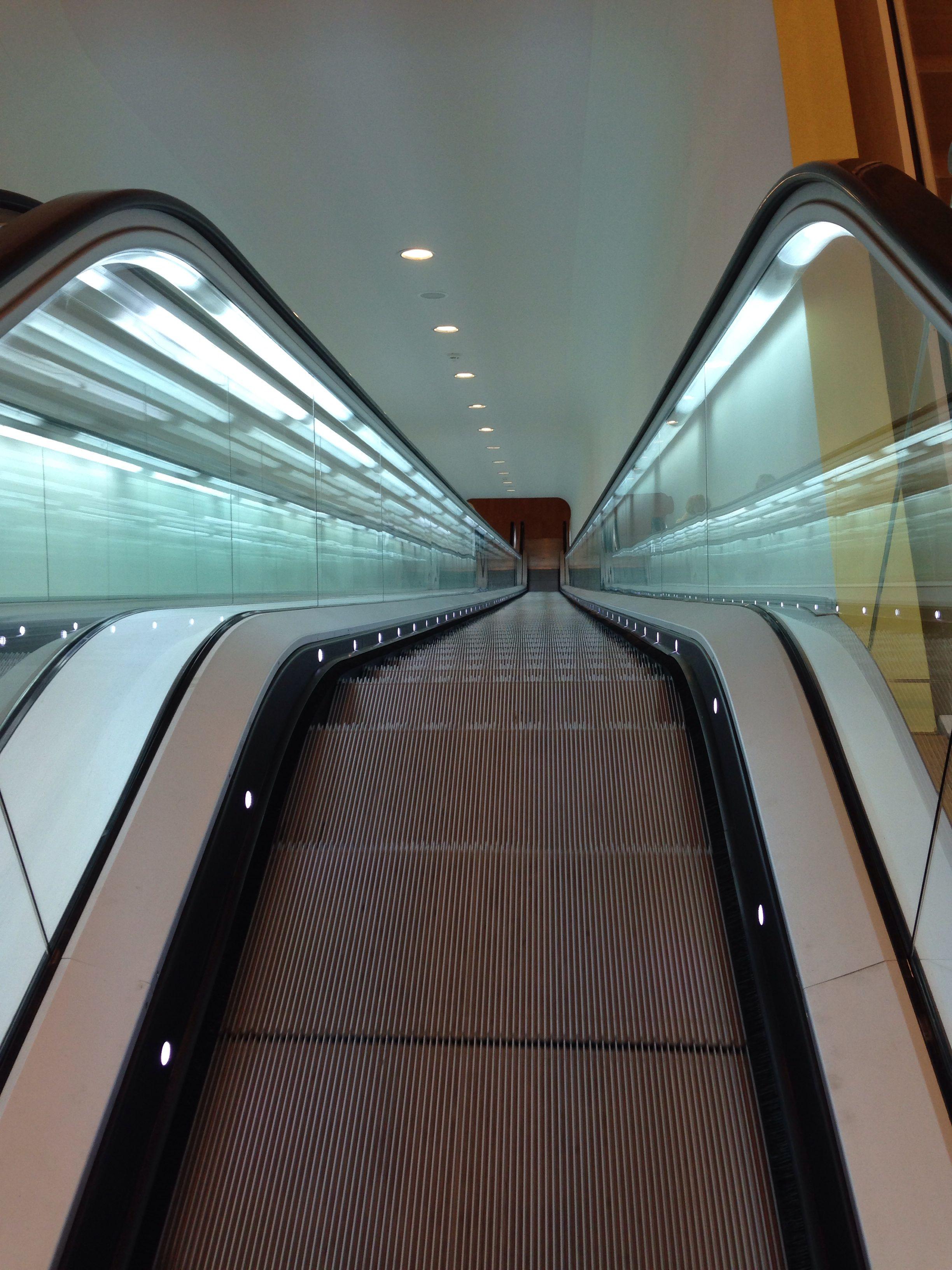Escalator in Stedelijk museum Amsterdam