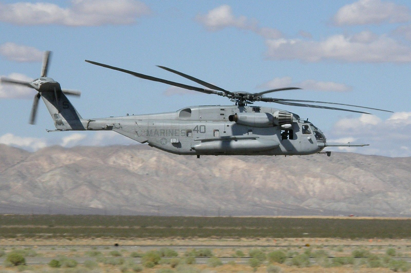 CH-53E Super Stallion High speed, low level pass during
