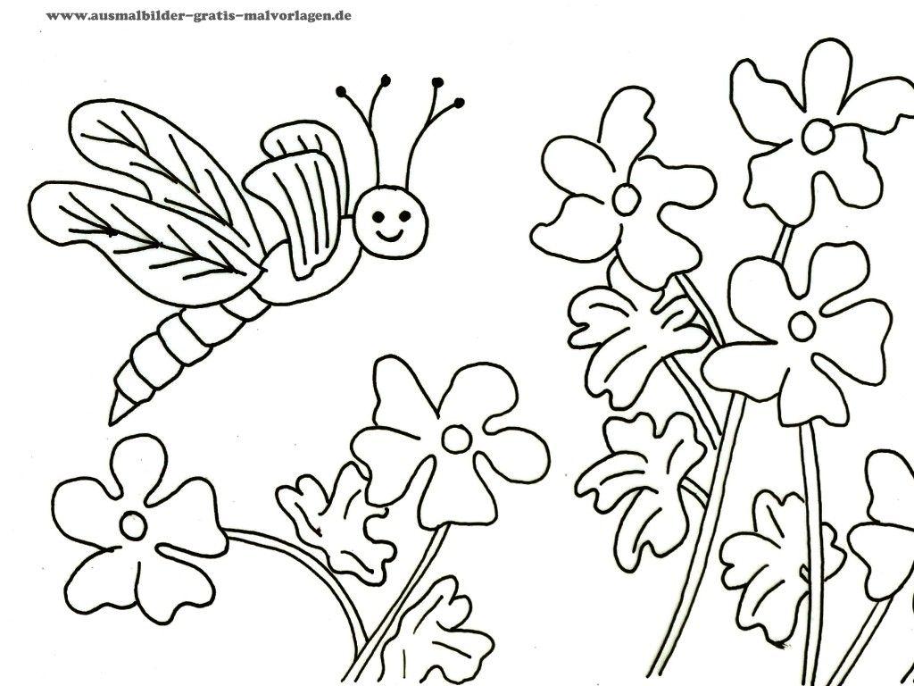Kostenlos Ausmalbilder Blumen 01 Ausmalbilder Pinterest