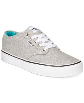93562f97851869 Vans Women s Atwood Lace-Up Sneakers-Black White Heather ed or Mid  Grey White- 55.00