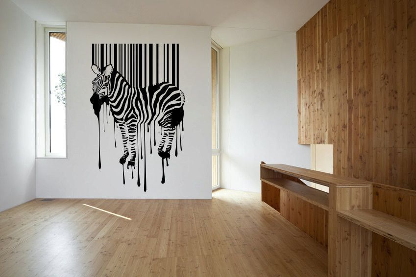 Zebra Stripes Paint Drips Vinyl Wall Decal Sticker Made From 10