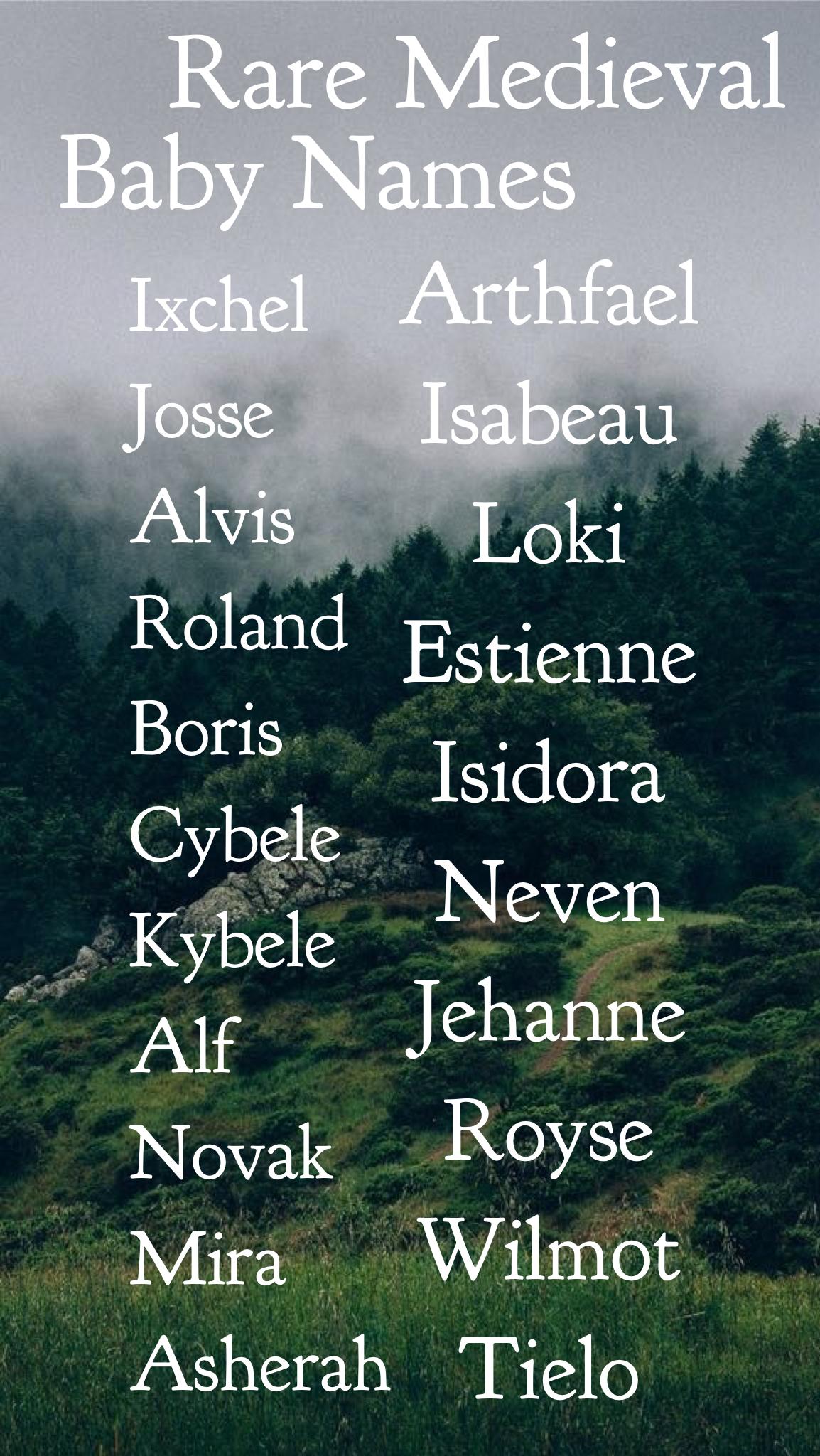 Einzigartige seltene mittelalterliche Babynamen Babynamen Babynamen, die von ...