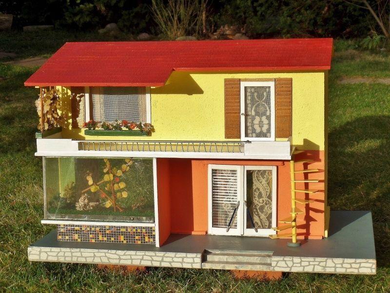 TOP original MORITZ GOTTSCHALK dollhouse BUNGALOW 50s 60s VINTAGE rockabilly
