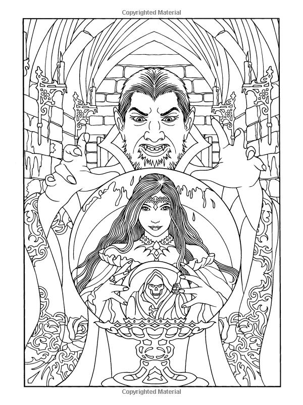 vampir fantasy malvorlage  coloring and malvorlagan
