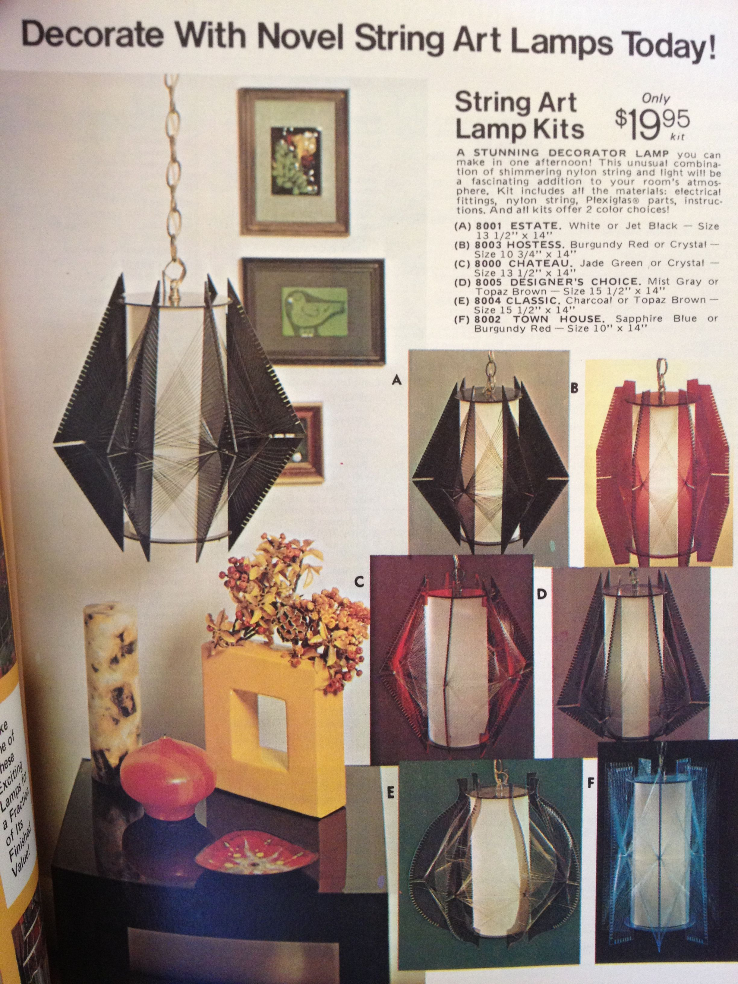 String Art Lamps | Lights & Lamps | Pinterest