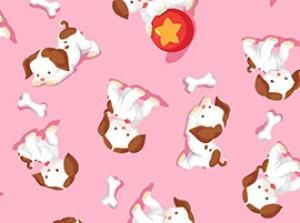 Old Country Store Fabrics - Quilting Treasures - Poky Little Puppy - 22076-P
