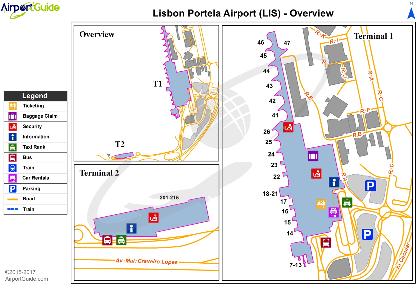Lisbon Lisbon Portela (LIS) Airport Terminal Map