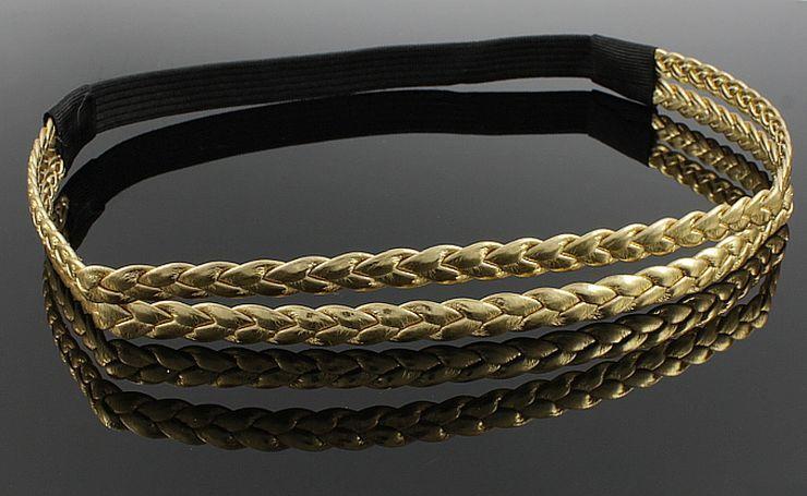 Opaska Do Wlosow Podwojna Skorzana Warkocz Zlota 3857780028 Oficjalne Archiwum Allegro Accessories Items Belt