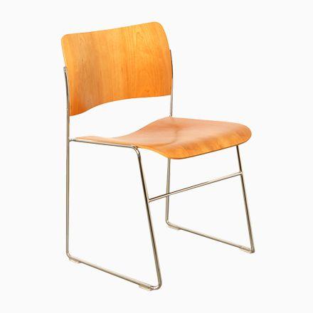Vintage 40/4 Kirschholz Furnier Stuhl von David Rowland für Howe - stühle für die küche