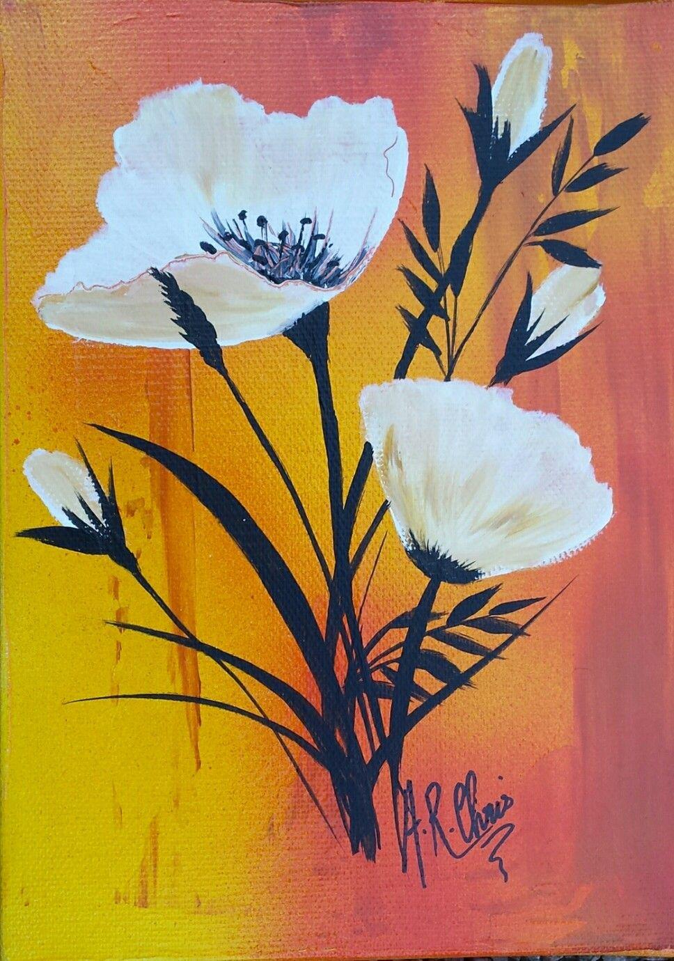Peinture Acrylique Sur Toile 25x35 By Raffin Christine Facebook L