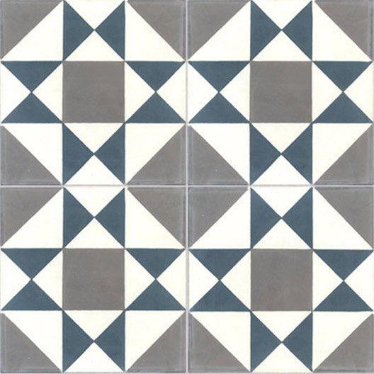 carreau de ciment int rieur grenelle premium bleu et gris. Black Bedroom Furniture Sets. Home Design Ideas