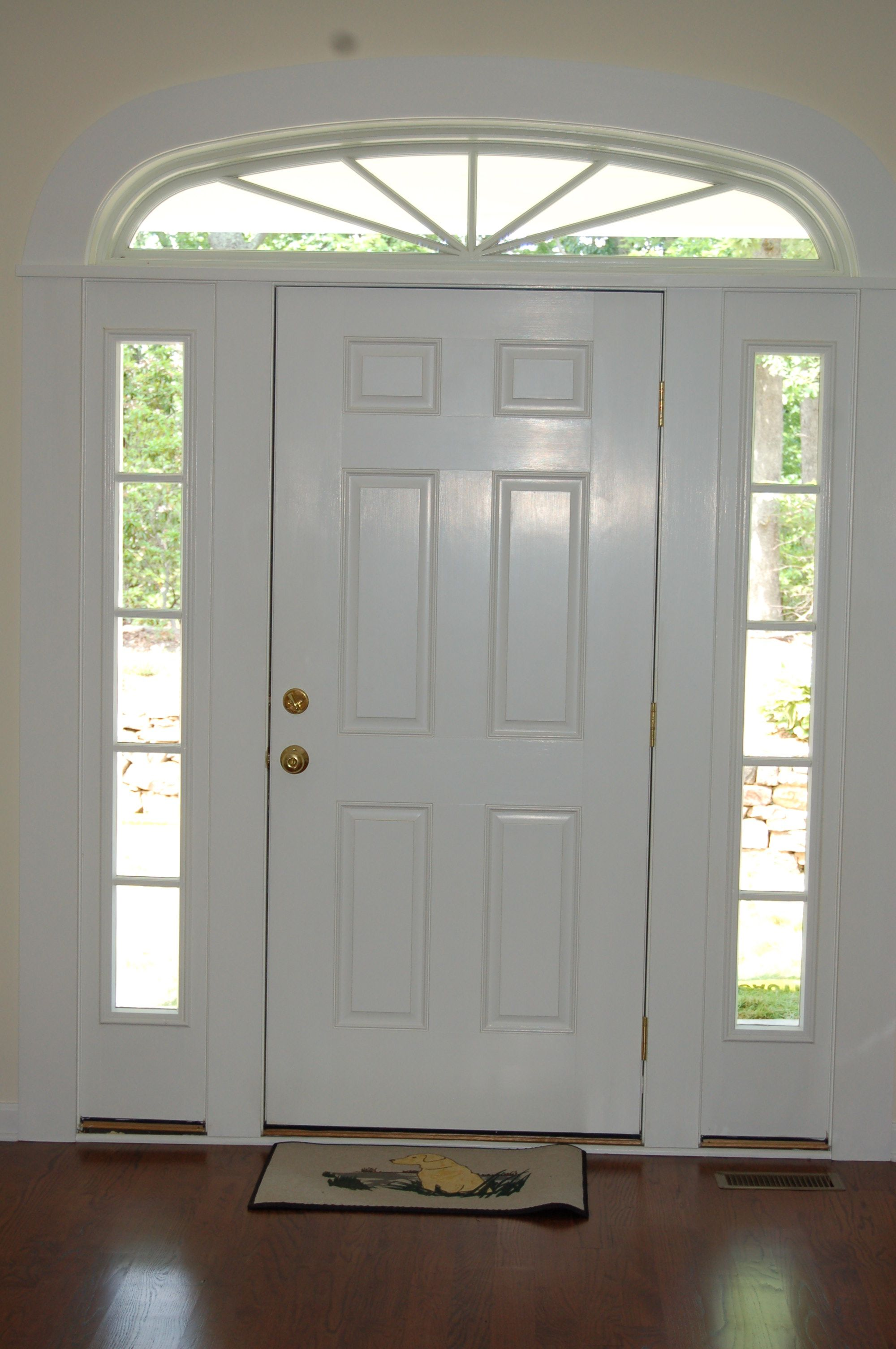 Beautiful Pella Door With Sidelights And Non Traditional Transom