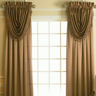 Royal Velvet® Hilton Rodpocket Waterfall Valance  Valances Interesting Dining Room Valances Design Inspiration
