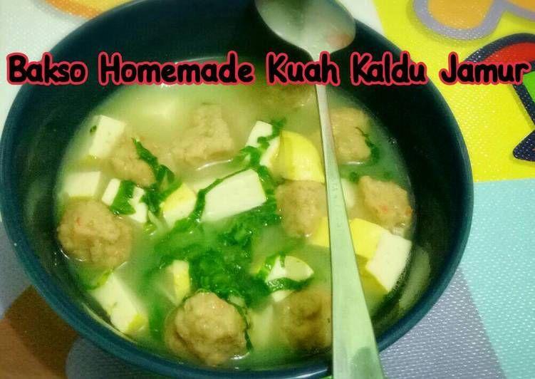 Resep Bakso Homemade Kuah Kaldu Jamur Toddler Meal Oleh Niabundaalif Blogspot Com Resep Makanan Balita Jamur Bakso