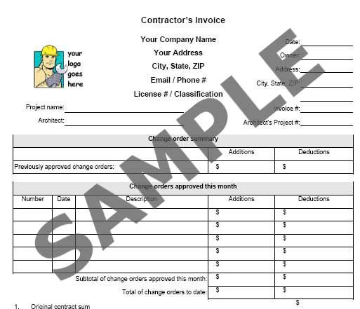 Constructioncompanyinvoiceexamples Invoice Including - Architect invoice template