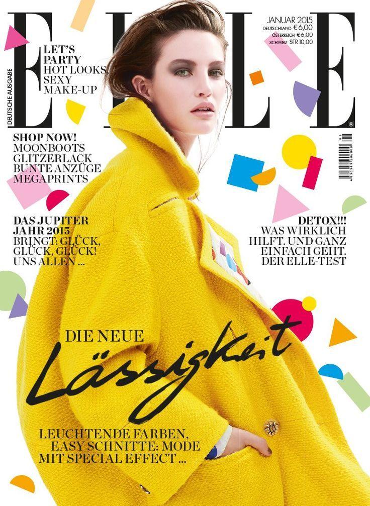 Elle Germany January 2015 | Erin Shea | Georges Antoni