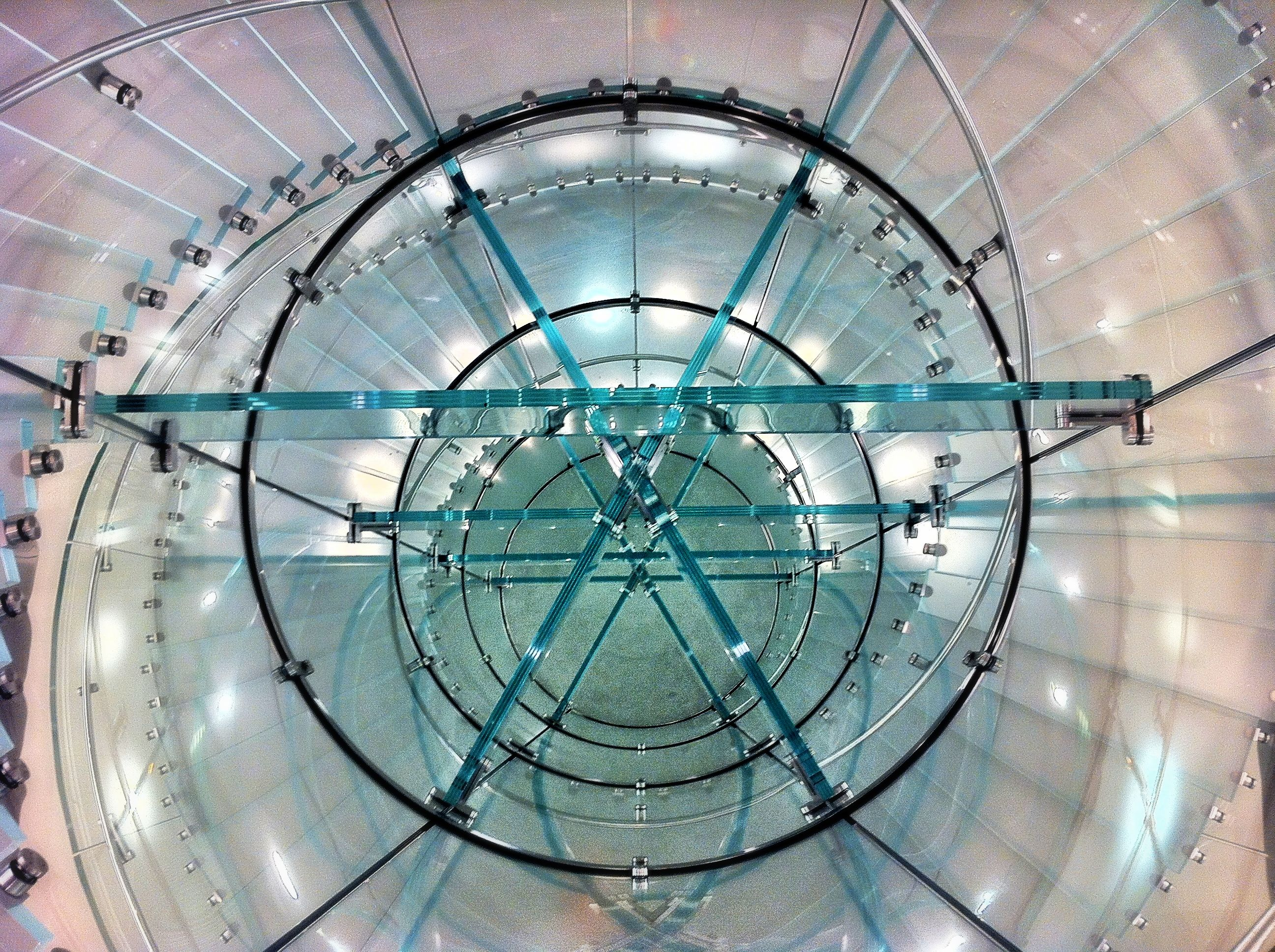 Boston Apple Store Glass Stairs