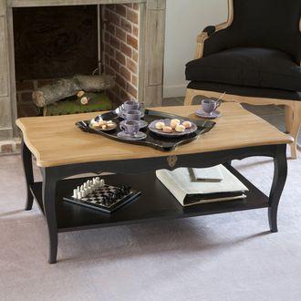 Table Basse Rectangulaire En Bois Pauline L110cm Avec Plateau En Bois Massif Prix Promo Delamai Table Basse Noire Et Bois Table Basse Rectangulaire Table Basse