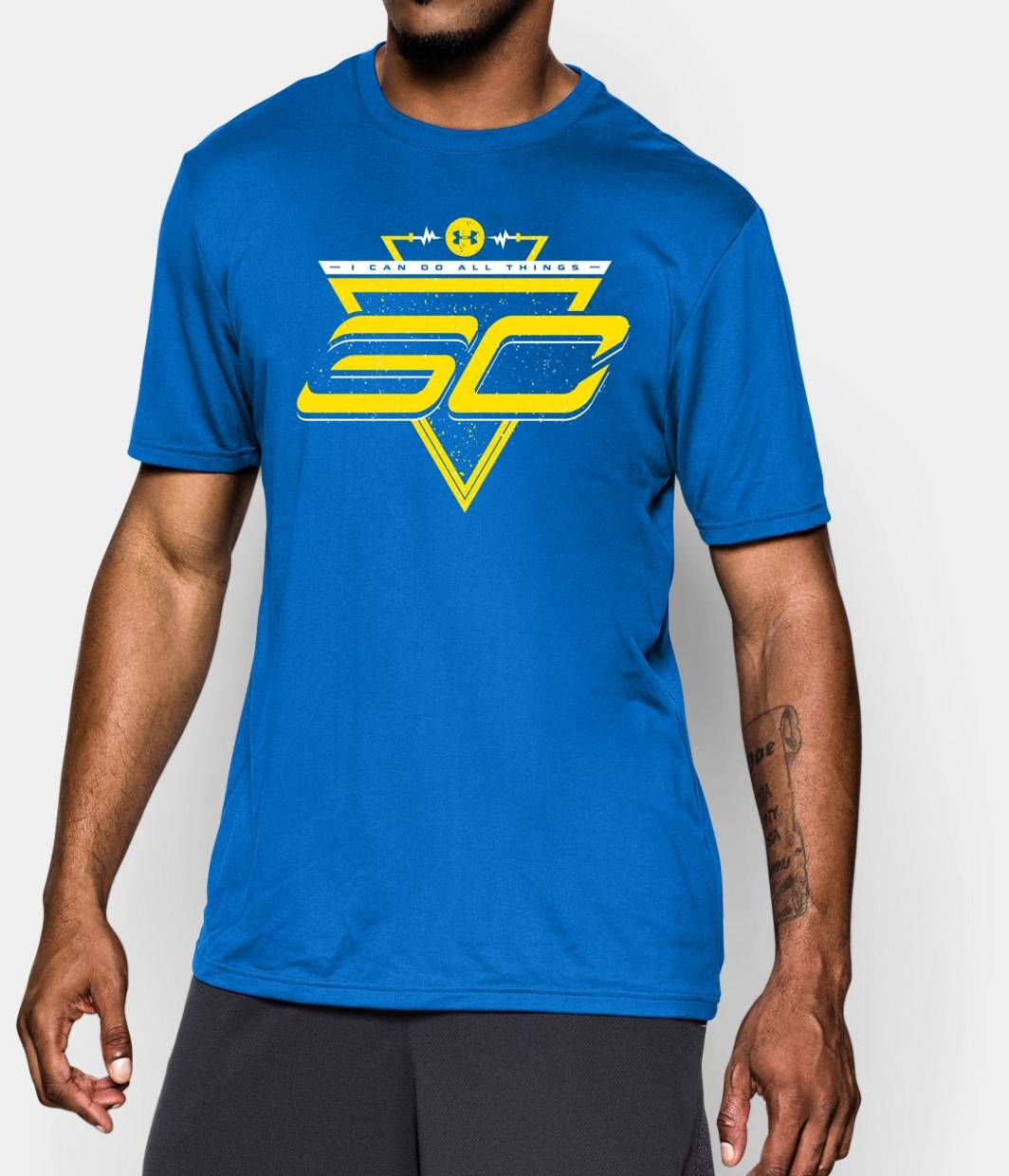Men 39 s sc30 future logo t shirt under armour us hoops for Stephen curry under armour shirt