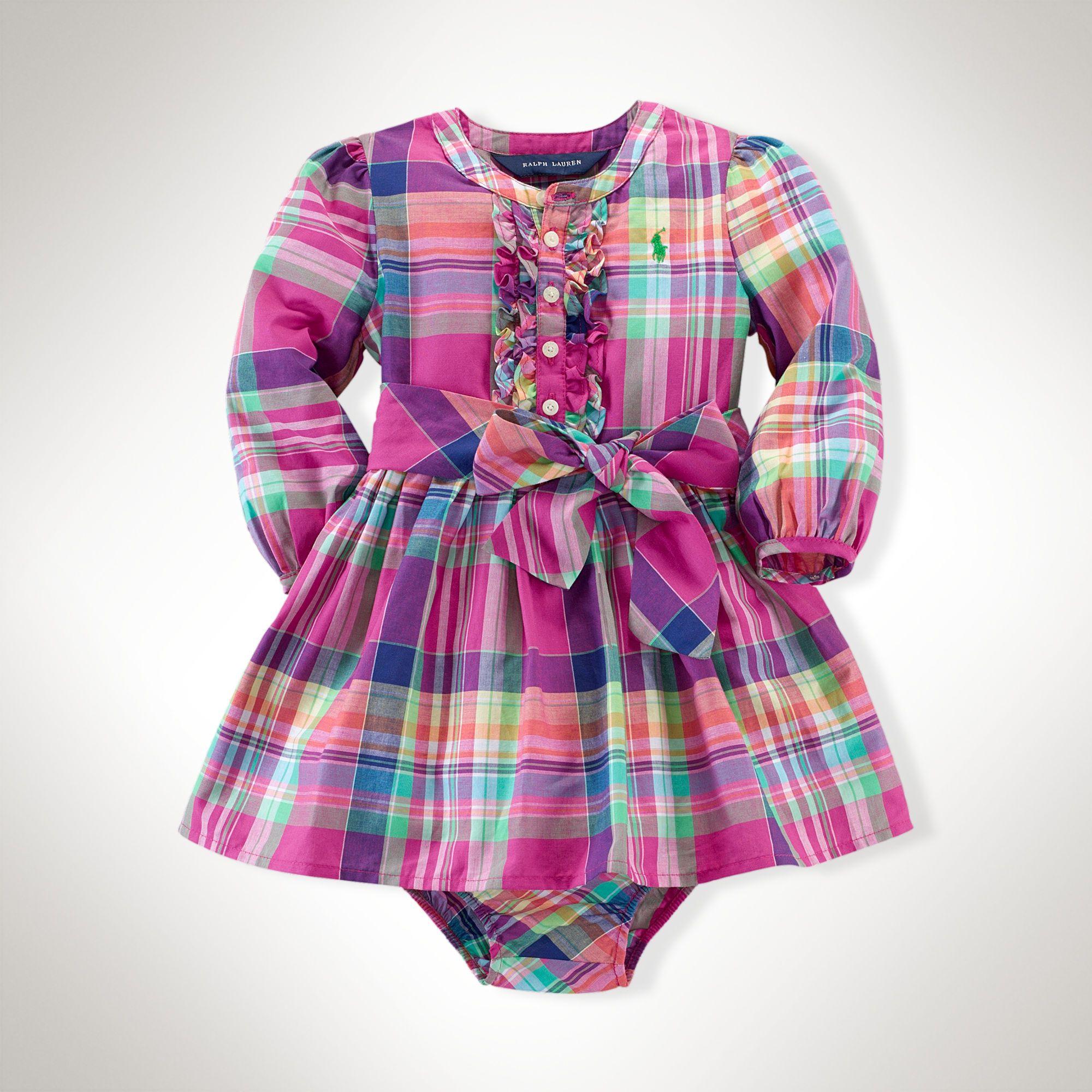 Plaid Cotton Dress - Dresses & Skirts Baby Girl (Newborn-24M ...
