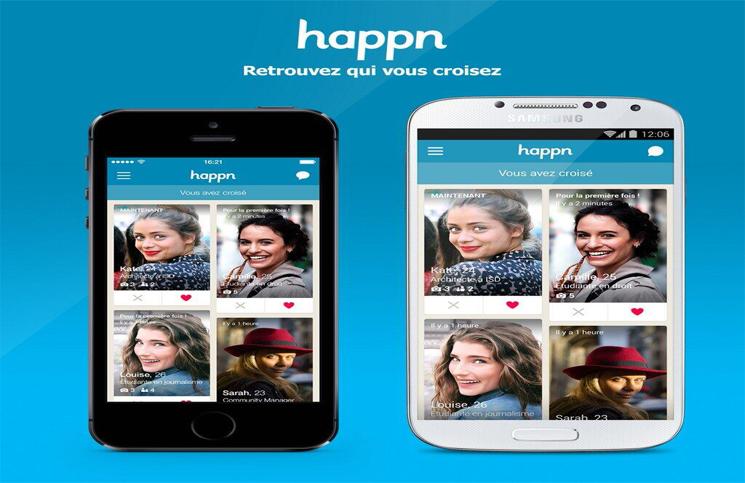 Just let it Happn' New dating app, Online dating