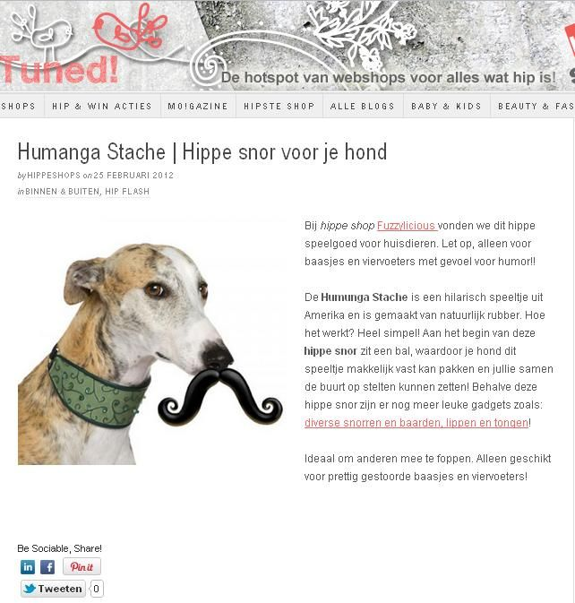 Article about the Humunga serie on www.hippeshops.nl