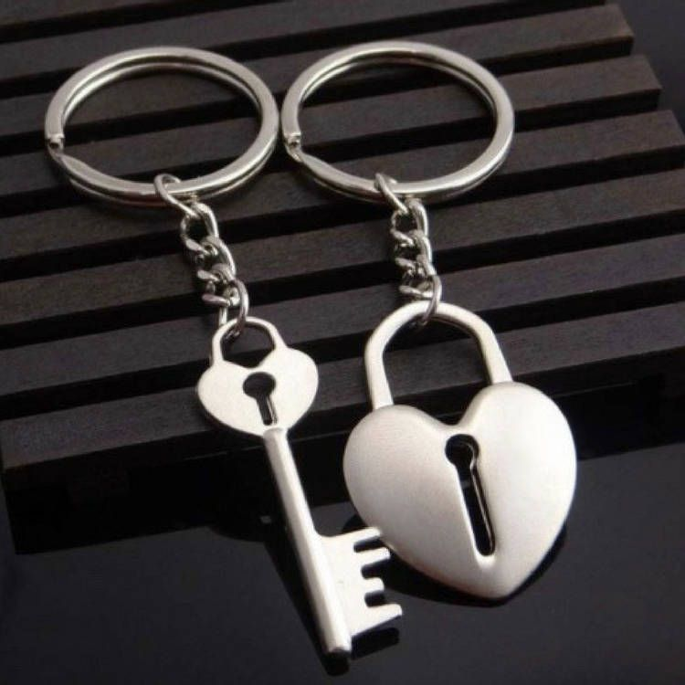 Gift For Girlfriend Lock And Key Keychain Set Couple S Keychains Awesome Boyfriend Or Cool Heart Love Chris Heart Keychain Keychain Valentines Jewelry