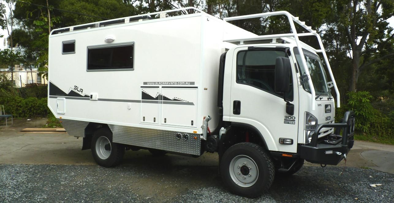 Vehicle Truck Campers : Slr adventurer expedition vehicle isuzu nps bov