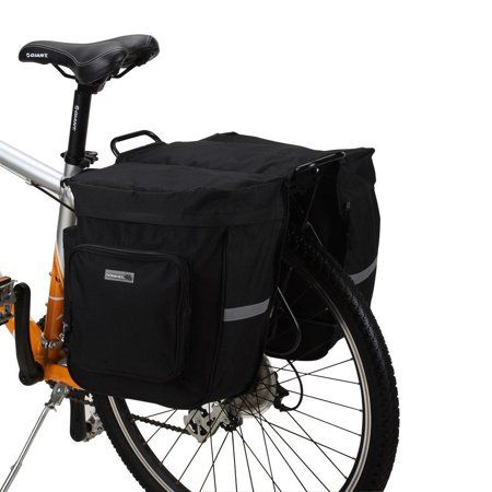 30L Black Pannier Bag For Bike Bicycle Cycling Tail Seat Double Side Rear Rack