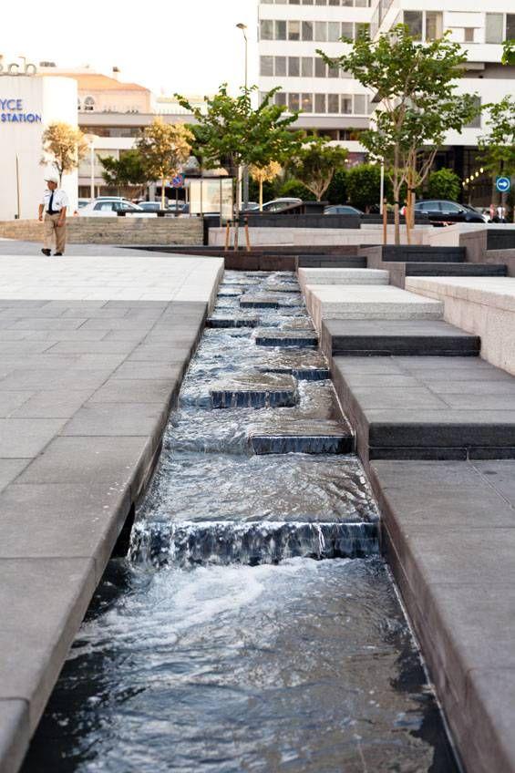 Zeytouneh square beirut lebanon gustafson porter for Urban waterfall design