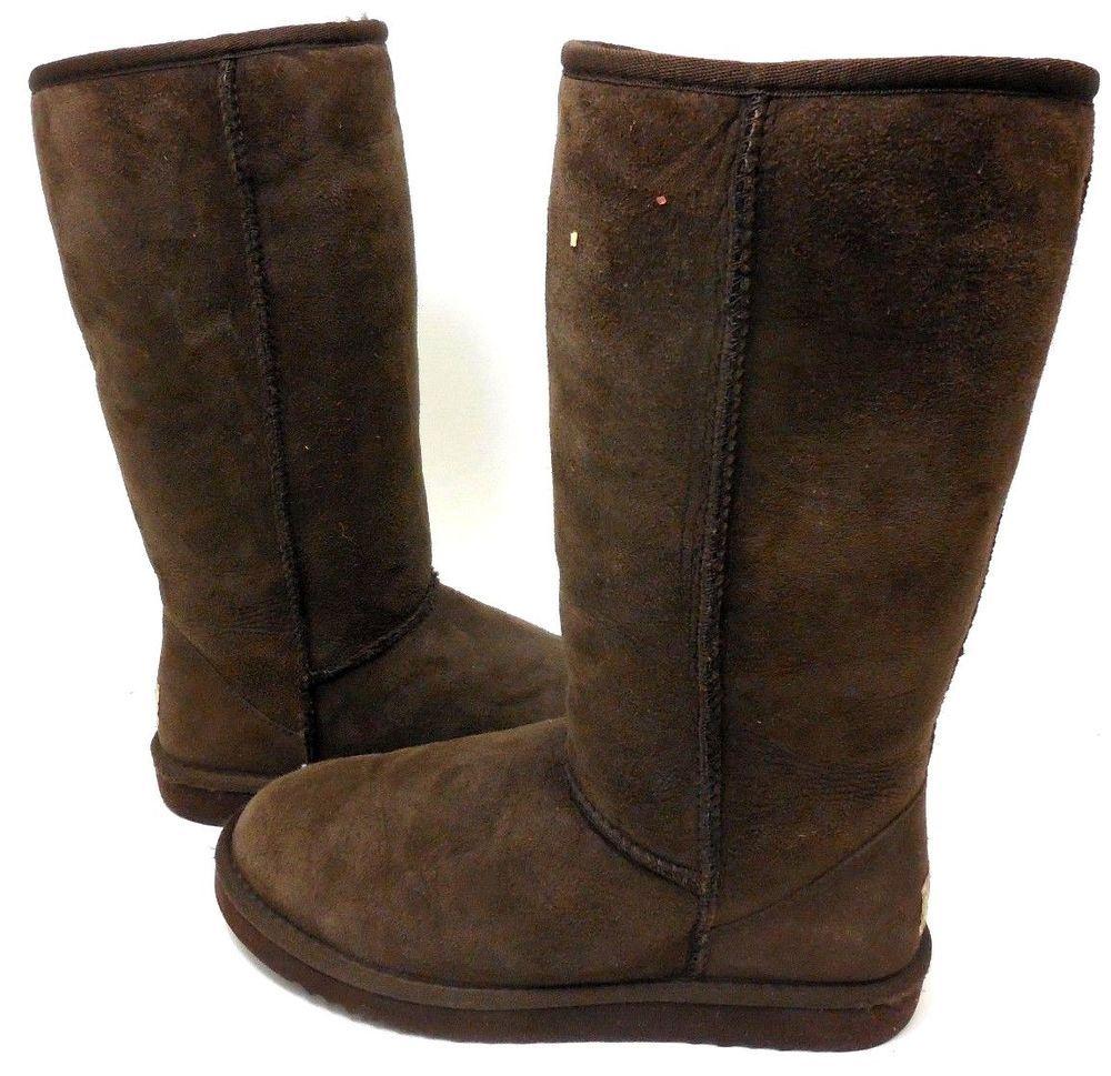 08e67139c31 good tall chocolate brown ugg boots 0331a a5e7b