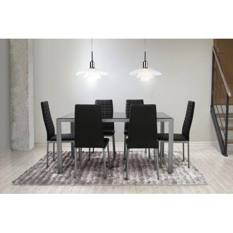 Conjunto de mesa con cuatro sillas para salón comedor o cocina. es ...