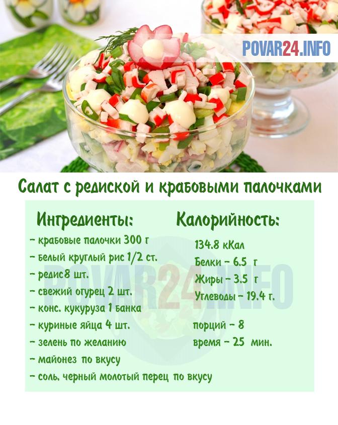 рецепты крабового салата