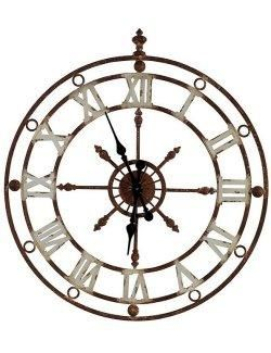 Weathered Metal Stable Wall Clock Nautical Wall Clock Metal Clock Nautical Clocks
