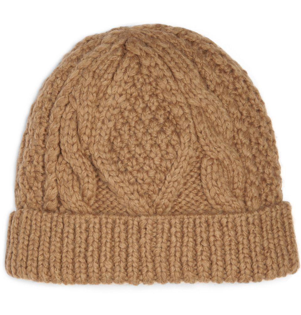 Marc by Marc Jacobs Cable Knit Beanie Hat 11 580x605 | Yarn ...