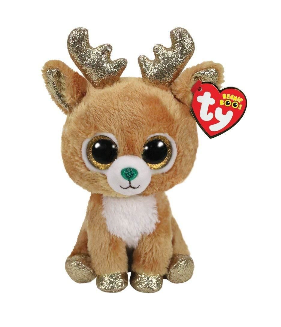 Current 438  2018 Christmas Ty 9 Medium Beanie Boos Glitzy Reindeer Plush  Mwmt S Heart Tags -  BUY IT NOW ONLY   11.95 on  eBay  current  christmas   medium ... e65103efa8ad