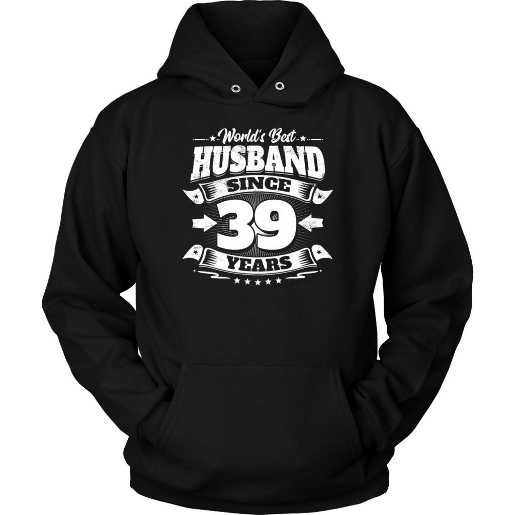 Wedding Day 39th Anniversary Gift Husband Hubby TShirt
