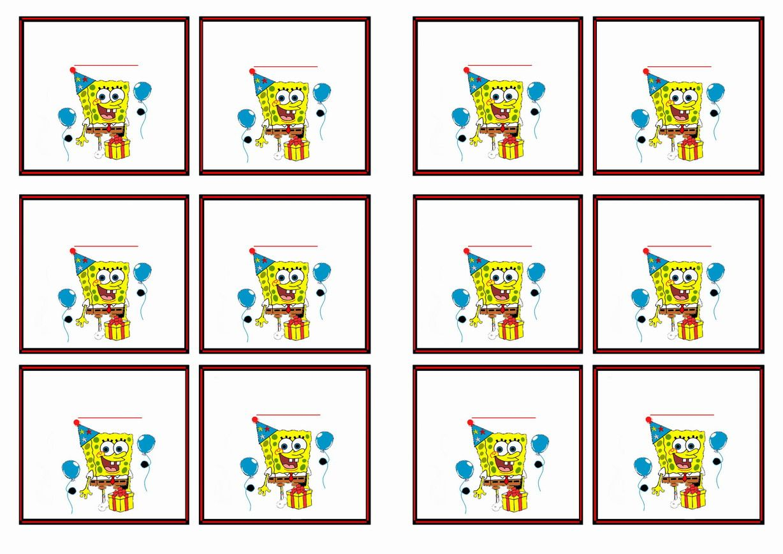 Uncategorized Spongebob Free Printables free printable spongebob themed name tags tags