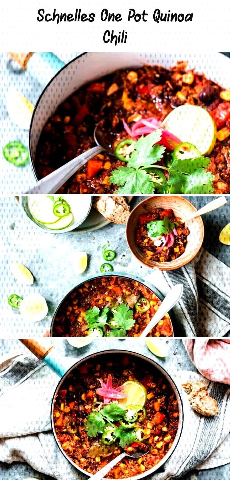 Doppelliebe für dieses schnelle und unfassbar leckere One Pot Quinoa Chili. Und wenn das von einem