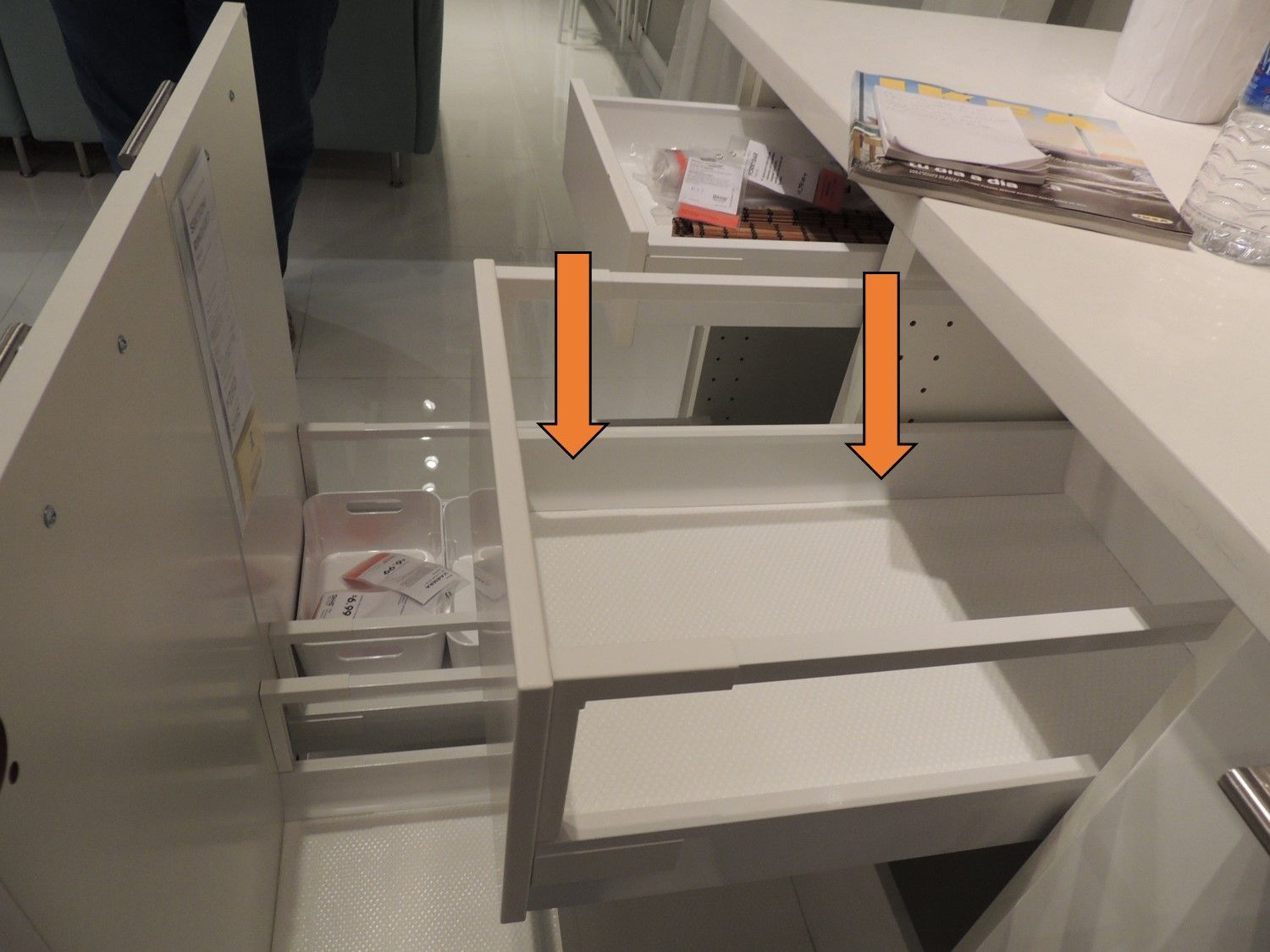 Küchenunterschrank Ikea ~ See the curved sides at the bottom of the maximera drawer? ikea
