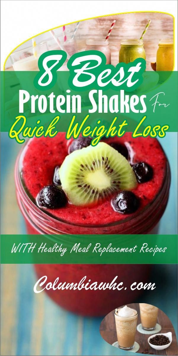 8 Easy & Healthy Protein Shakes for Weight Loss. If you want a flat belly and a meal replacement recipes for fast weight loss then these healthy natural shakes are for you.