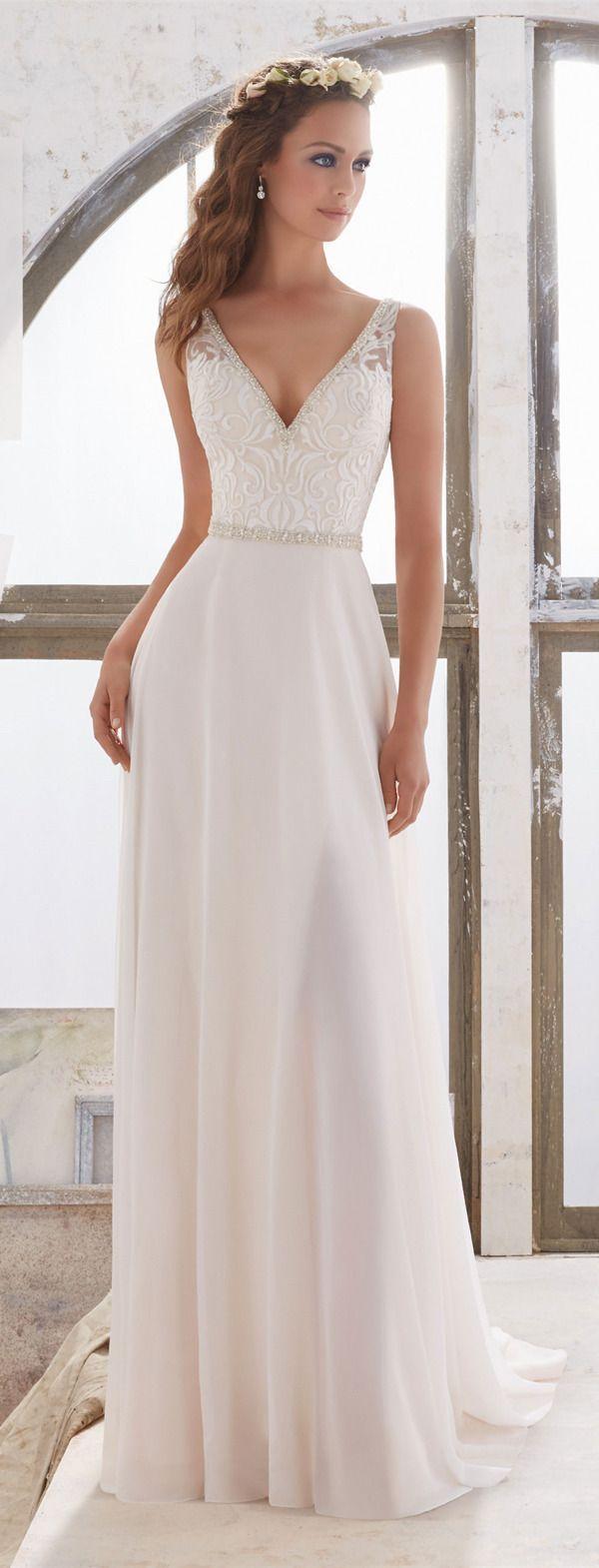 Vestidos de novia sencillos de noche