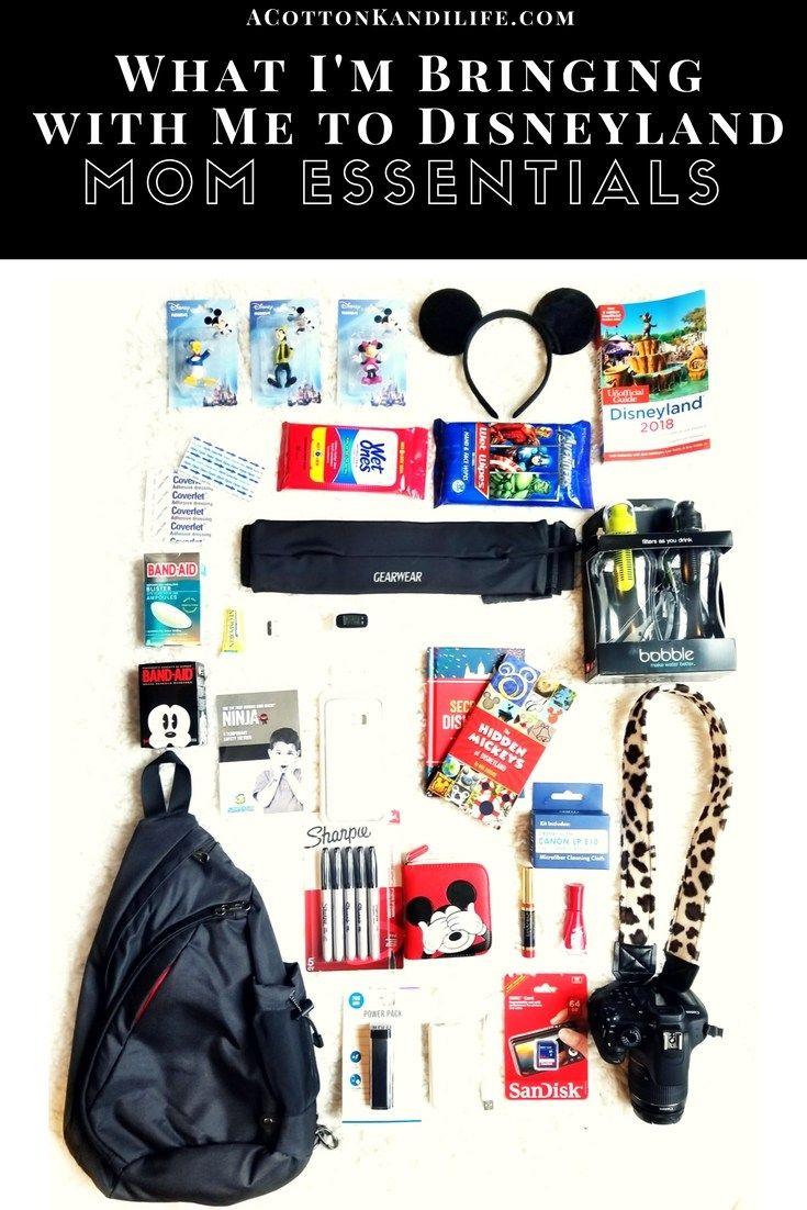 Photo of Was ich nach Disneyland bringe   Mom Essentials & Backpack – Ein Baumwoll-Kandi-Leben