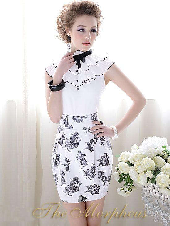 Morpheus Boutique  - White Lovely Designer Lady Sleeveless Layer Ruffle Collar Shirt, (http://www.morpheusboutique.com/products/copy-of-white-lovely-designer-lady-sleeveless-bow-ruffle-collar-shirt.html)
