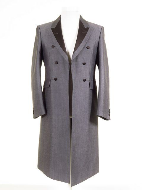 Men's silver grey frock coat. Matching trousers, tailcoats ...