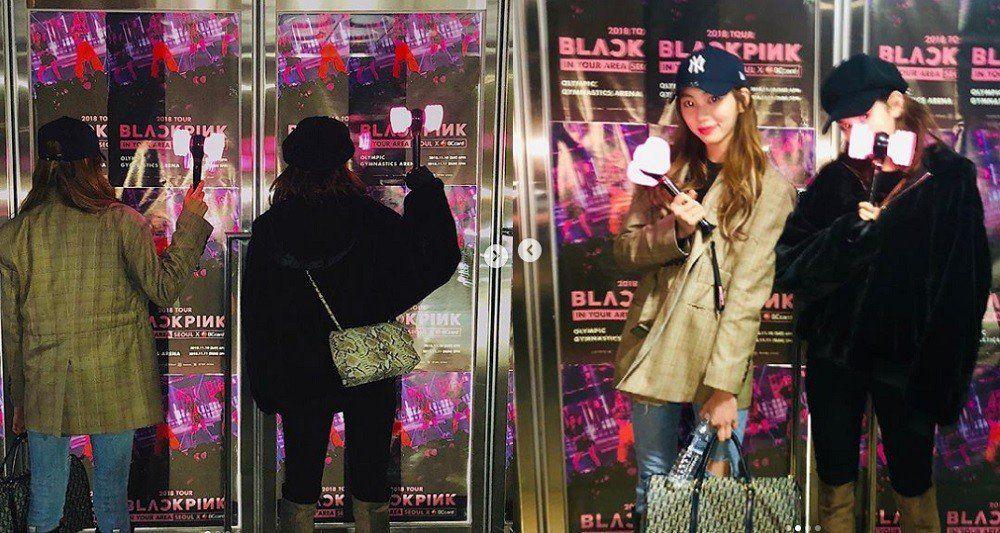 Jeon So Mi Attends Black Pink S Concert With Clc S Kwon Eun Bin Black Pink Instagram Somi