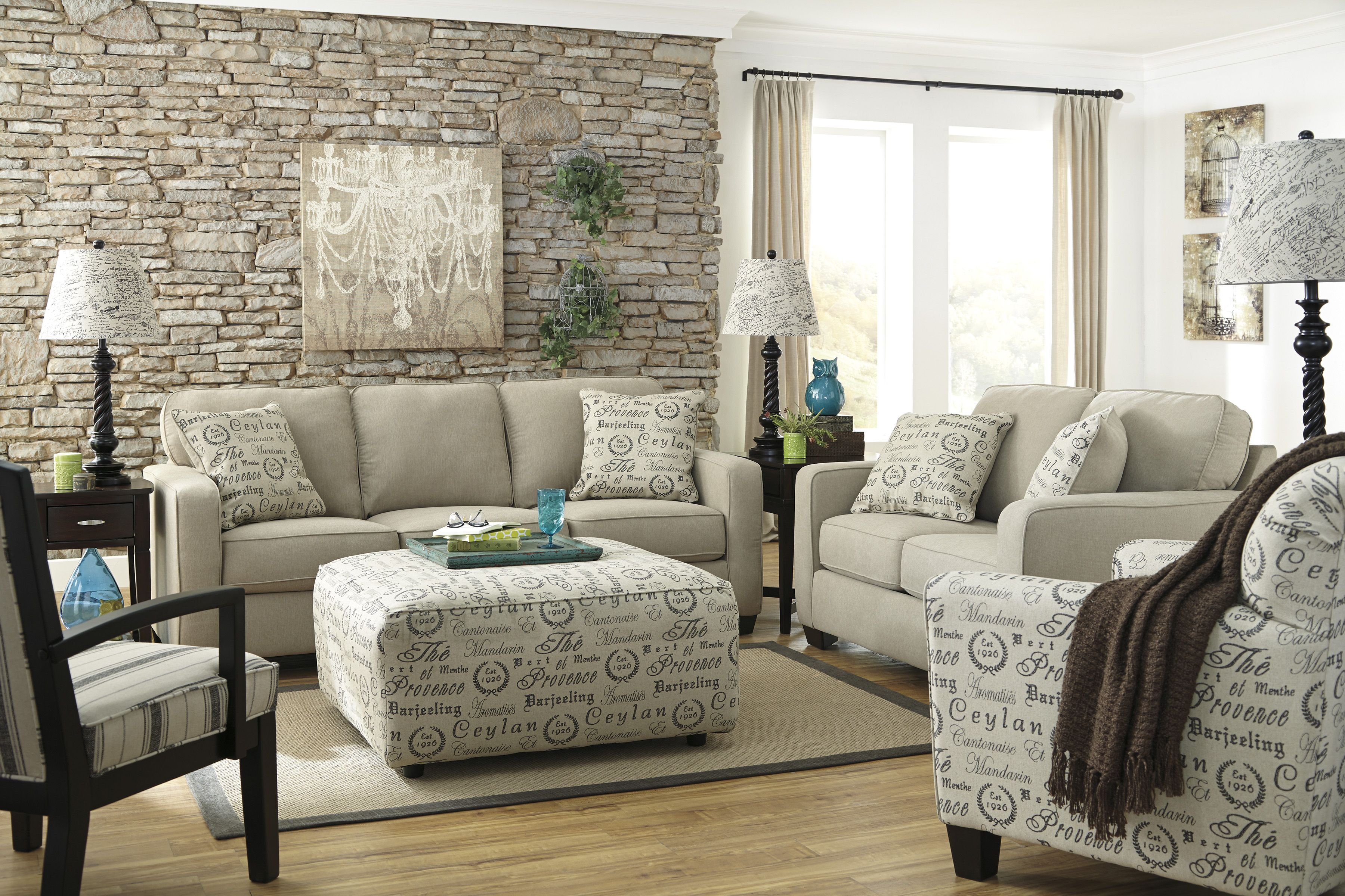 Match your accent chair in with your throw pillows to tie your