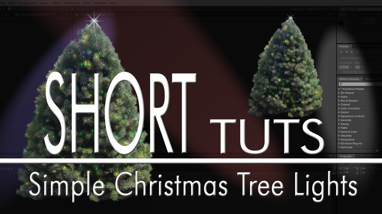 Simple Christmas Tree Lights In After Effects Simple Christmas Tree Christmas Tree Lighting Tree Lighting