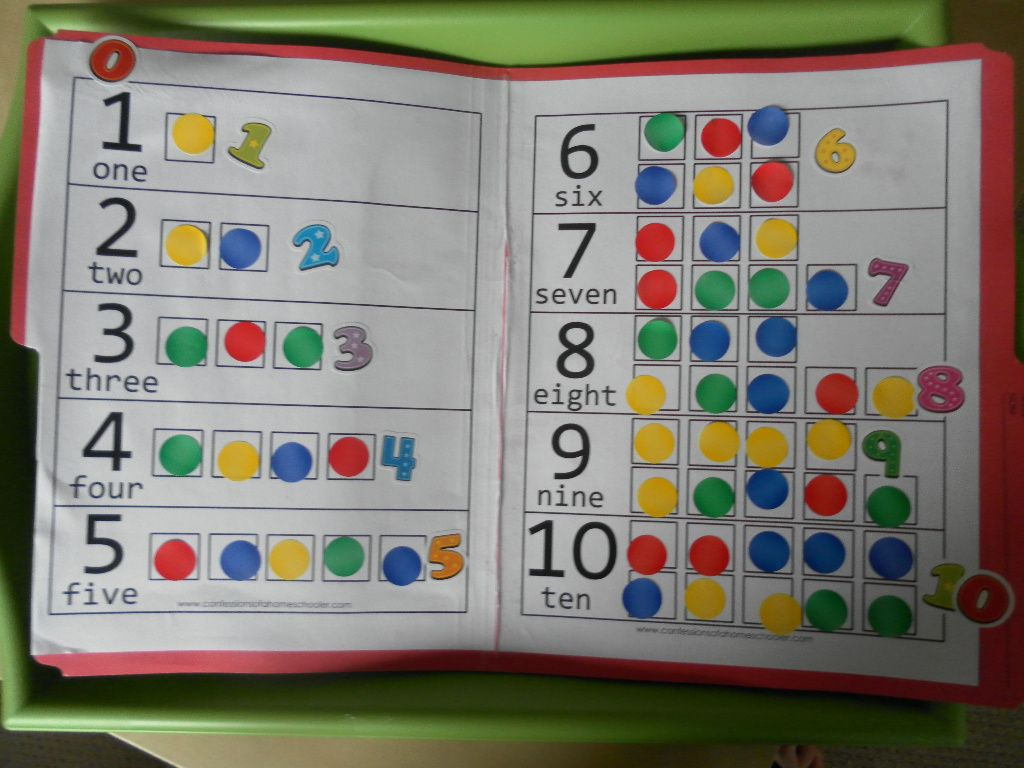 Great Number Counting And Matching File Folder Game